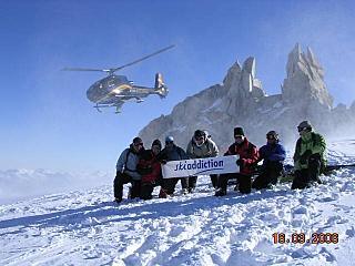 Trient glacier heli ski